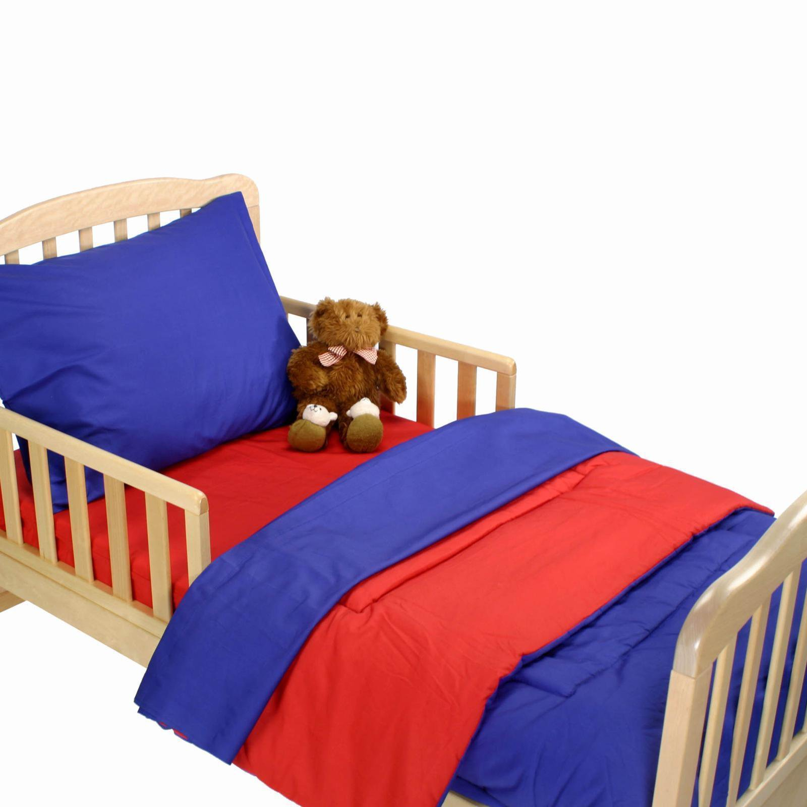American Baby Company Toddler Bedding Set - Royal Blue and Red