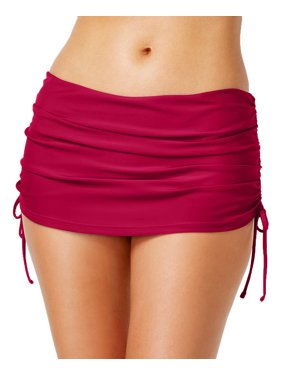 79dcf2955 Product Image Island Escape Womens Hamptons Skirtini Ruched Side-Tie Swim  Skirt (10, Burgundy)