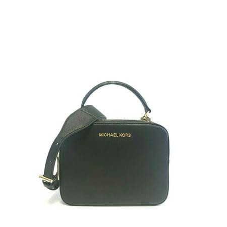 BRAND NEW WOMEN'S MICHAEL KORS LEATHER KARLA TOP HANDLE CAMERA CROSSBODY BAG (Black) Coach Top Handle Leather