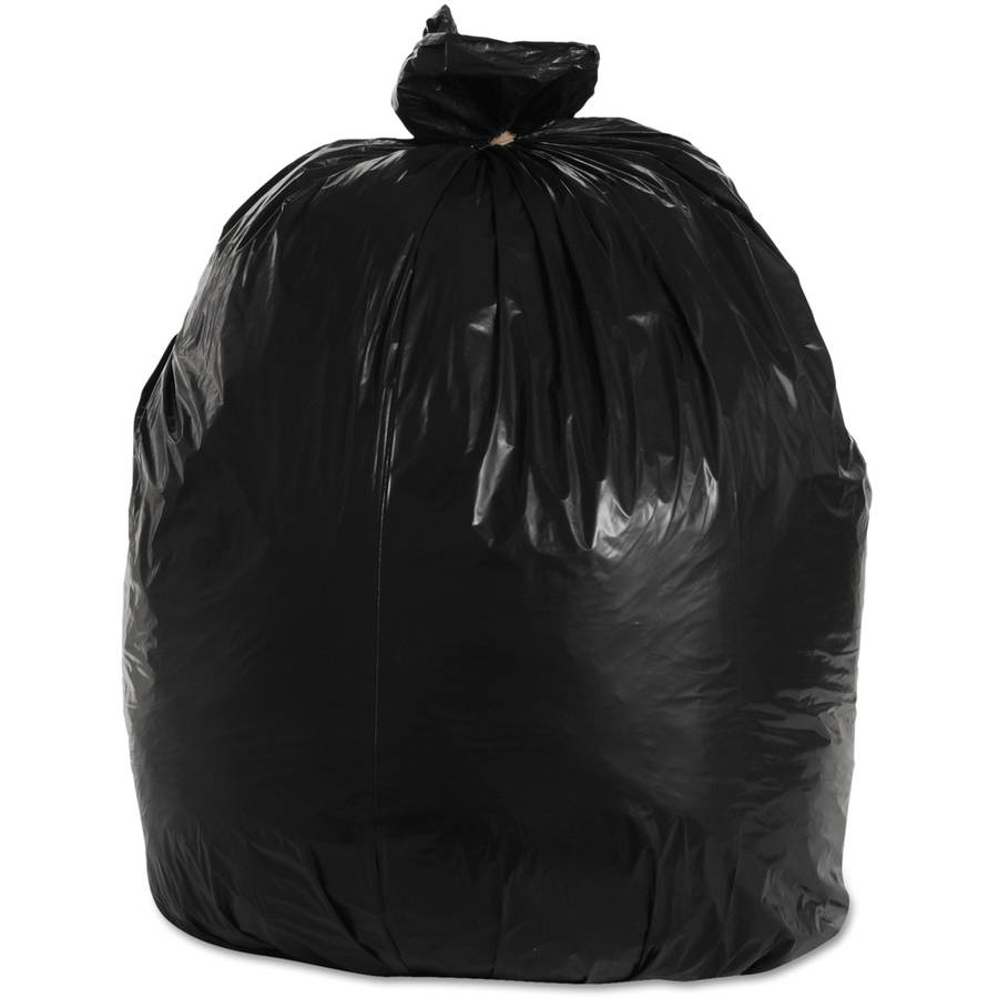 Boardwalk 33 Gallon Super-Heavy Grade Trash Bags, Black, 25 count, (Pack of 4)
