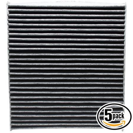 5-Pack Replacement Cabin Air Filter for 2014 Chrysler 200 L4 2.4L 2360cc 144 CID Car/Automotive - Activated Carbon, ACF-10729 - image 4 de 4