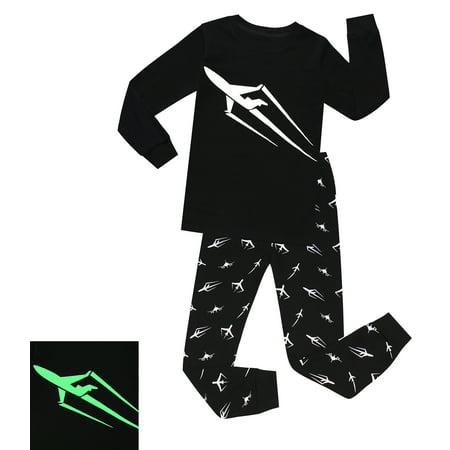 Glow In The Dark Pyjamas (Elowel Boys Glow in The Dark