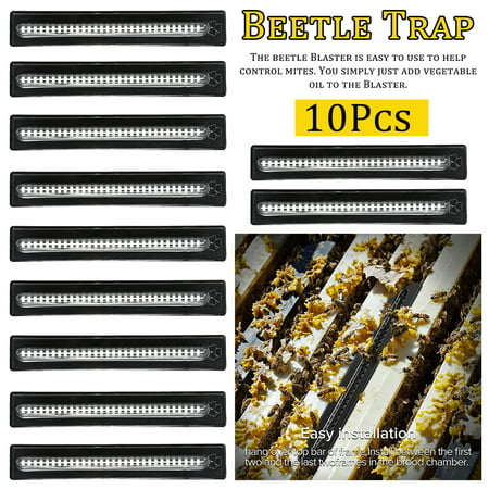 10x Small Hive Better Bee Hive Beetle Blaster Beehive Trap Beekeeping Equipment Tool - Protect Protect Bee Living Environment Beetle Type 3 Thing