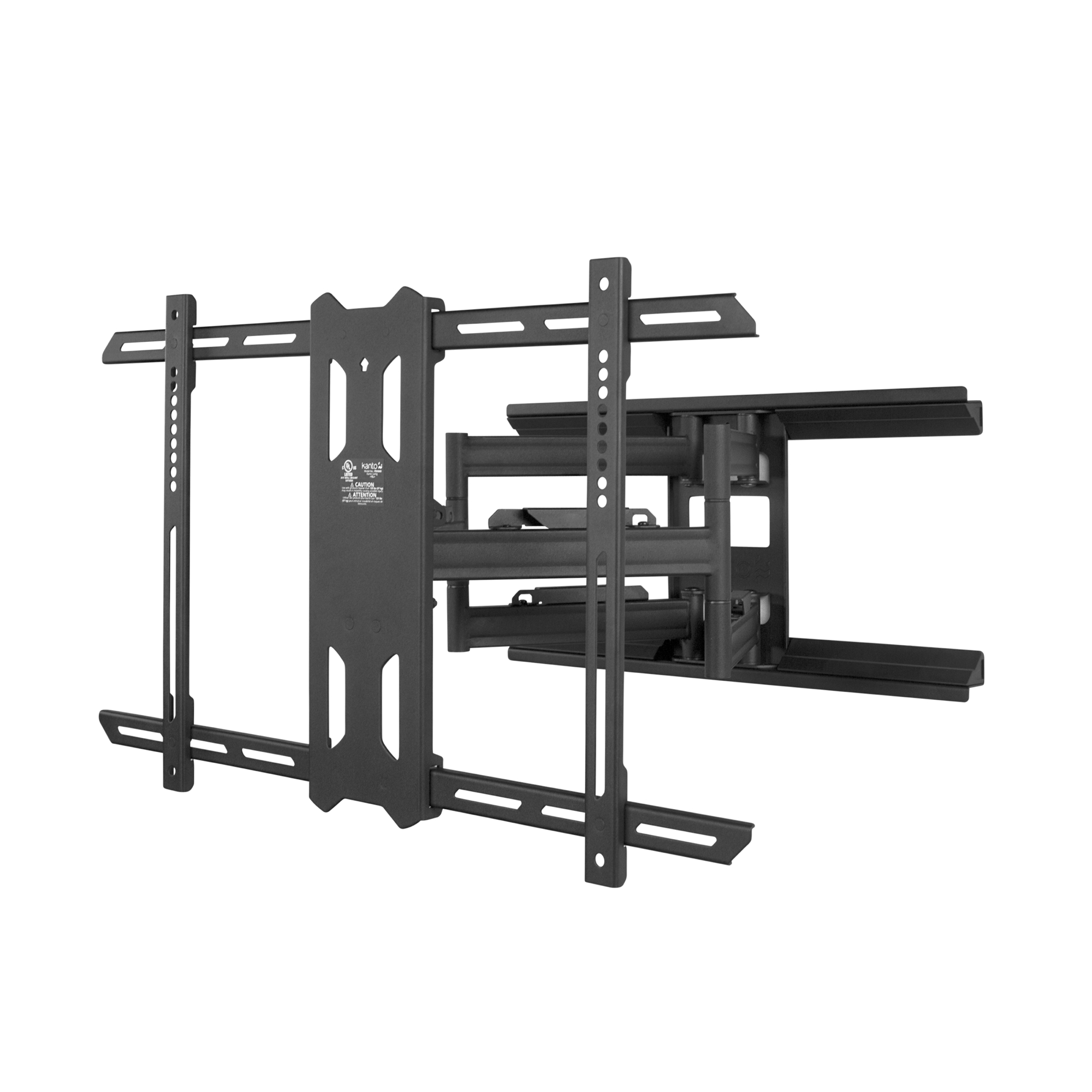 Kanto PDX660 Full Motion Mount for 37-inch to 75-inch TVs Black-Finish:Black by Kanto