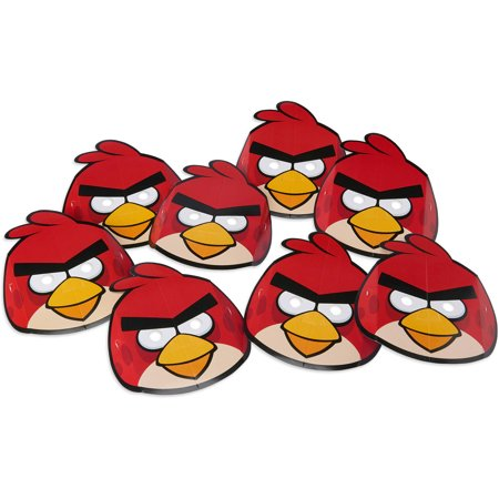 Angry Birds Party Masks, 8ct (Party Favors Angry Birds)