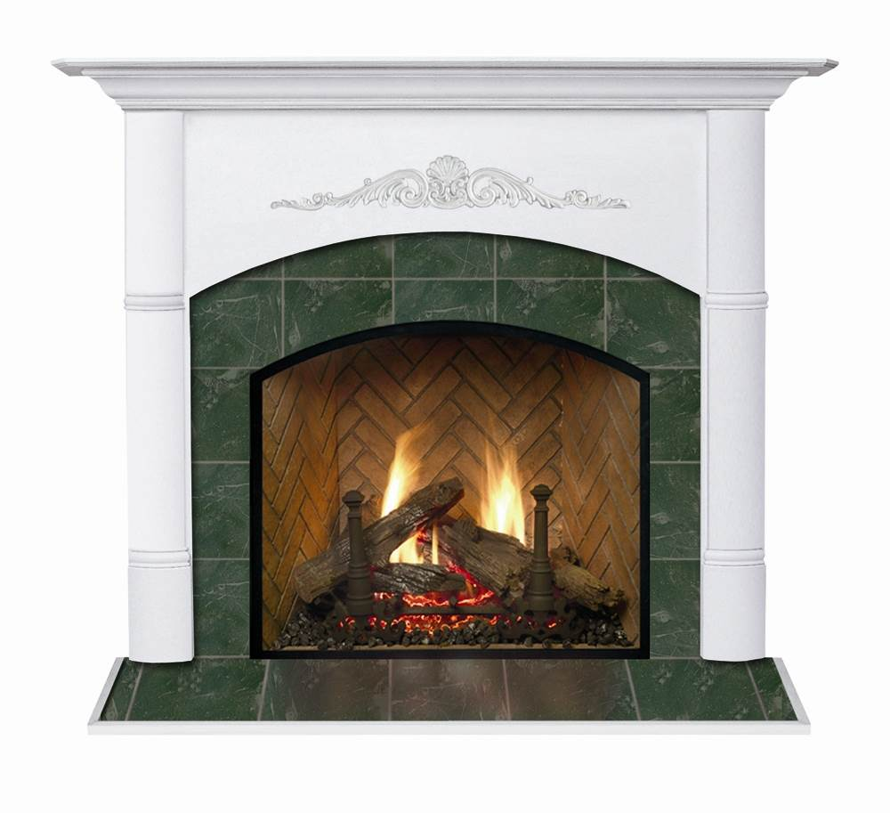 Viceroy Arched Flush Fireplace Mantel in Satin White Finish (Satin White 40 in. x 48 in.)