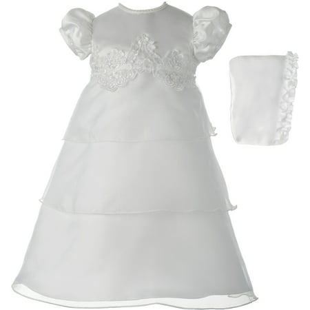 Baby Girl Dresses Special Occasion (Christening Baptism Newborn Baby Girl Special Occasion Organza Multi-Tiered)