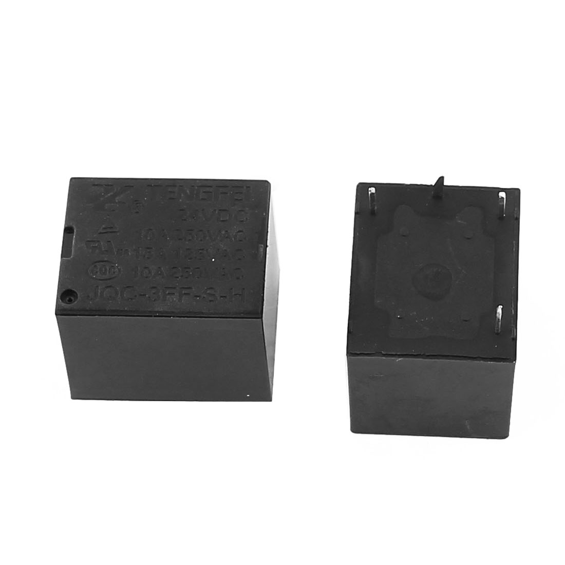 10 Pcs 24VDC 250VAC 10A 4 Terminal SPST NO  Power Coil Electromagnetic Relay - image 1 of 2