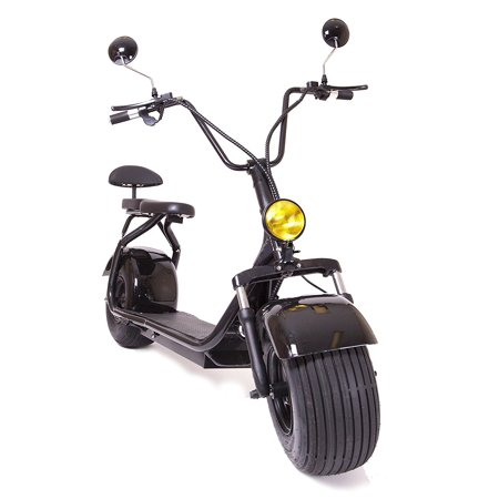 Edrift Uh Es295 2 0 30Mph Electric Fat Tire Scooter Moped With Shocks 2000W Hub Motor Harley E Bike