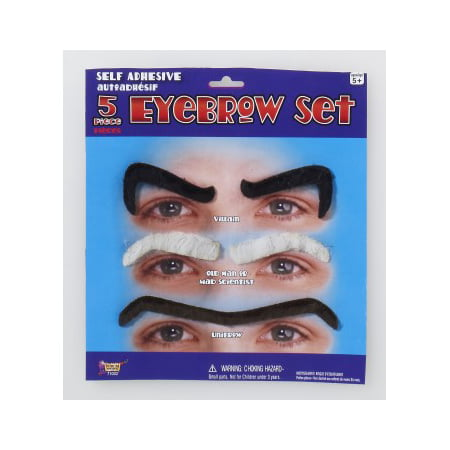 EYEBROW SET-BLACK/GREY (Costume Eyebrows)