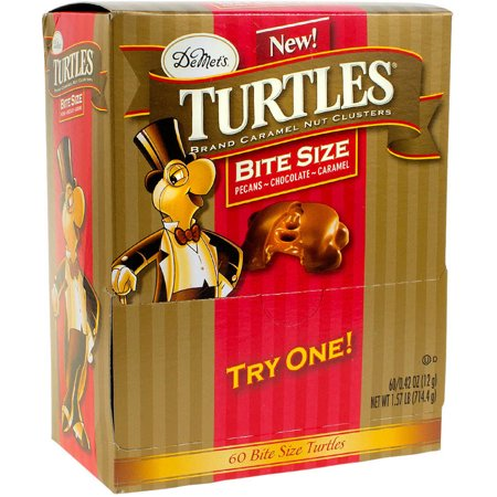 DeMet's Bite Size Turtles Candy, 60 count, 1.57 lbs (Chocolate Turtles Candy)