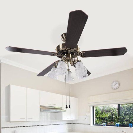 Lv. life 52  LED Ceiling Fan 3 Speed levels Lights & Reversible 4 Blades Ceiling Fan,LED Ceiling Fan, Ceiling Fan
