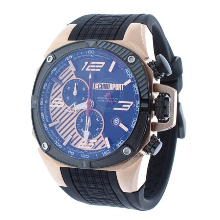 TS-100-5F1 Men's Watch Formula 1 Swiss Chronograph Black Rubber Strap