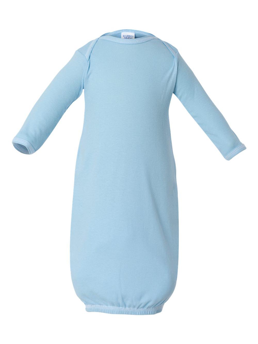 Rabbit Skins 4406 Infant Baby Rib Layette - Light Blue, New Born