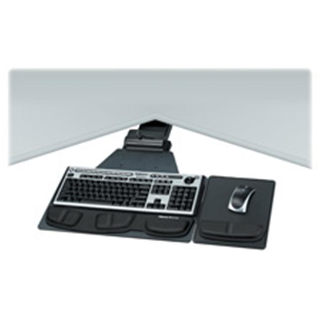 Fellowes Mfg. Co. FEL8035901 Exec. Keyboard Tray- Adjust- 19in.x14-.75in.- 25in. Track- Graphite