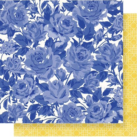 """Maggie Holmes Flourish Double-Sided Cardstock 12""""X12""""-Poetic"""
