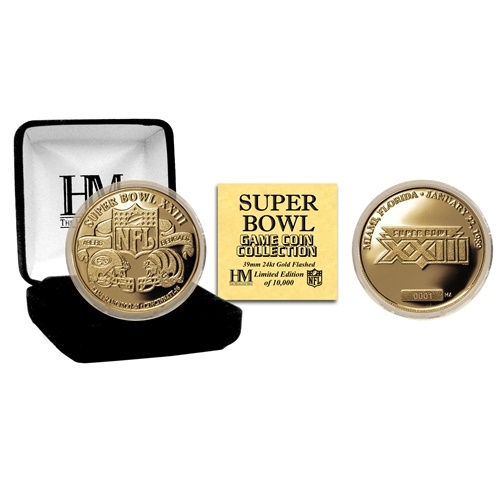 NFL Commemorative Coin by The Highland Mint - Super Bowl XXXIII