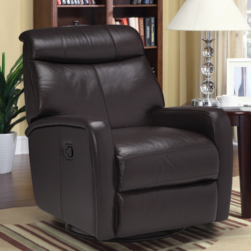 Sofas to Go Howie Leather Manual Swivel Recliner