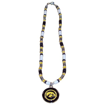 Iowa Hawkeyes Shell Necklace, 18-Inch, White (Iowa Hawkeyes Jewelry)