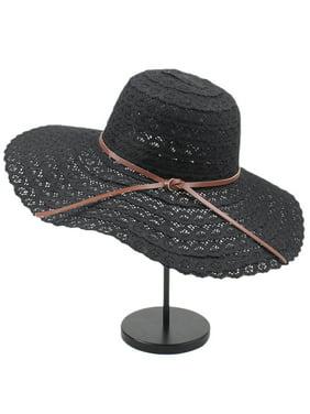 fe999bb8 Product Image Women Ladies Summer Big Wide Brim Straw Hat Floppy Derby Sun  Beach Foldable Caps