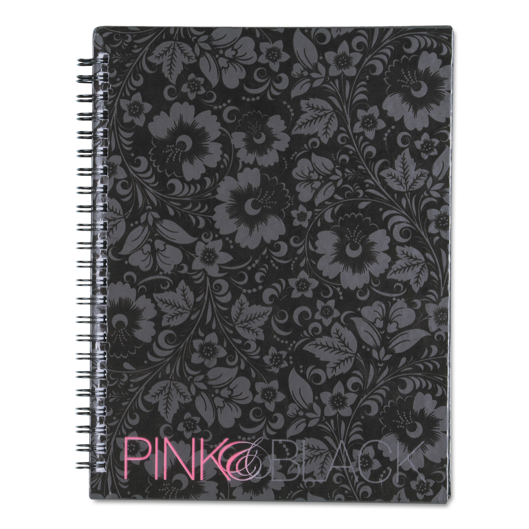 Pink & Black Pink & Black Professional Wirebound Notebook, Ruled, 8 1/4 x 6 1/4, 70 Sheets