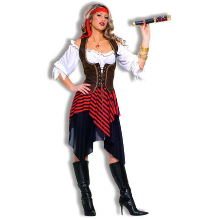 Sweet Buccaneer Women's Adult Halloween Costume, 1 Size - Easy Homemade Costume For Adults