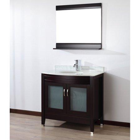 Bahaus Bath Alfa 36 in. Single Bathroom Vanity Set with Mirror