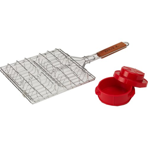 Bull Outdoor Products 2 Piece BBQ Basket and Press Set