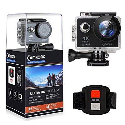 camkong action camera 4k wifi waterproof sports camera, u...