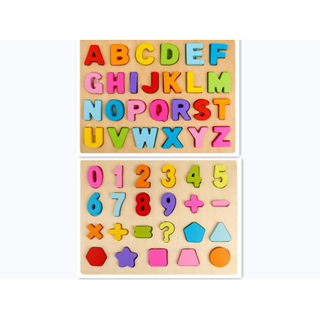 Wooden Alphabet Puzzle Board Raised Wooden Puzzle for Children | Wooden ABC Letters Colorful Educational Puzzle Toy Board for Toddlers and Kids, Multi-Colored Jigsaw Blocks