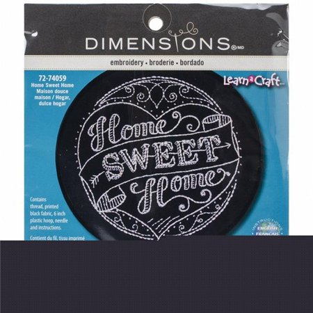 Learn-A-Craft Home Sweet Home Stamped Embroidery Kit, 6