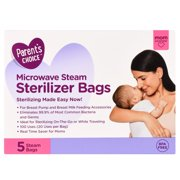 Parent's Choice Microwave Steam Sterilizer Bags, 5 ct