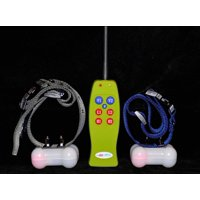 Groovypets® 2-Dog Remote Dog Training Collar Systems:Rechargeable Dog Shock Collar No Bark Trainer Obedience Training for Small,Medium,Large Dogs