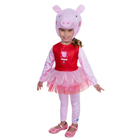 Peppa Pig -Peppa Pig Ballerina Toddler Costume (Gothic Ballerina Costume)