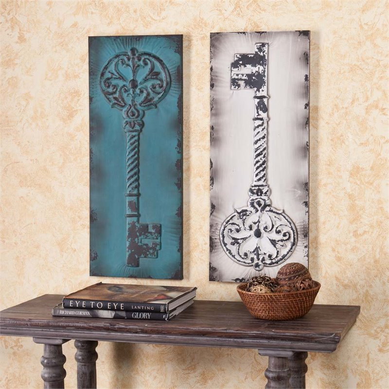Southern Enterprises 2 Piece Decorative Key Wall Panel Set