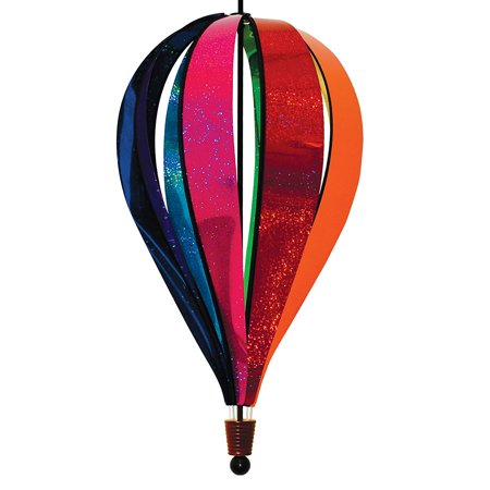 Jumbo Rainbow Glitter 8-Panel Hot Air Balloon, In The Breeze Item #1087 - Jumbo Rainbow Glitter 8-Panel Hot Air Balloon Wind Spinners are made with colorful.., By In the - Hot Air Balloon Pins For Sale