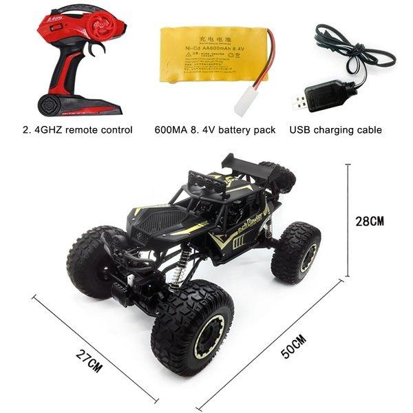 1 8 50cm 19 68inches Rc Car 2 4g 4wd Electric Remote Control Vehicle Off Road Car Walmart Com Walmart Com