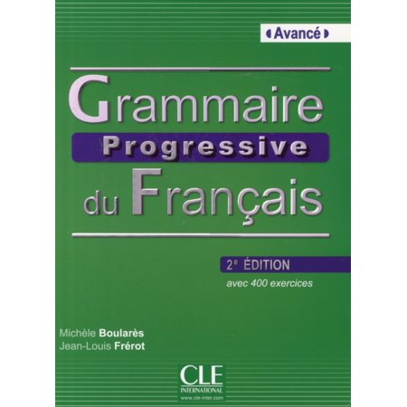 Grammaire Progressive Du Francais Nouvelle Edition Livre Avance Cd Audio Paperback