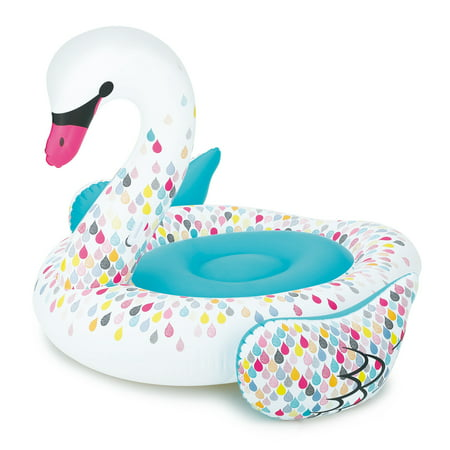 Play Day Giant Inflatable Swan Pool Float