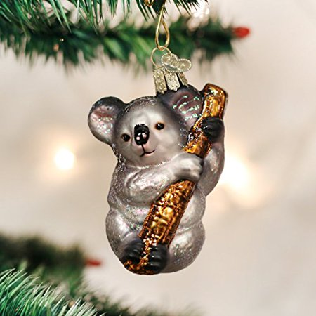 Beer Christmas Ornament - Old World Christmas Koala Bear Glass Blown Ornament