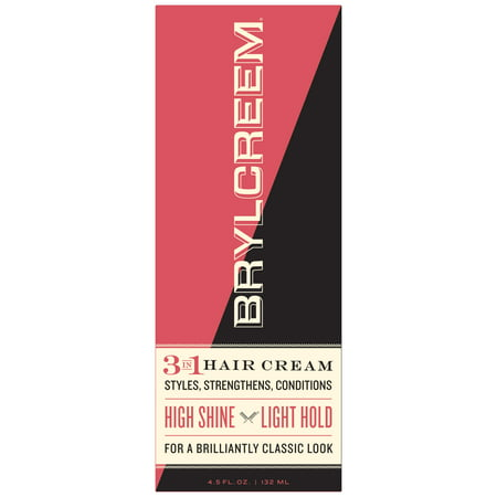 Brylcreem High Shine 3n1 Hair Cream for Men that Styles Strengthens and Conditions Hair, 4.5 Fluid