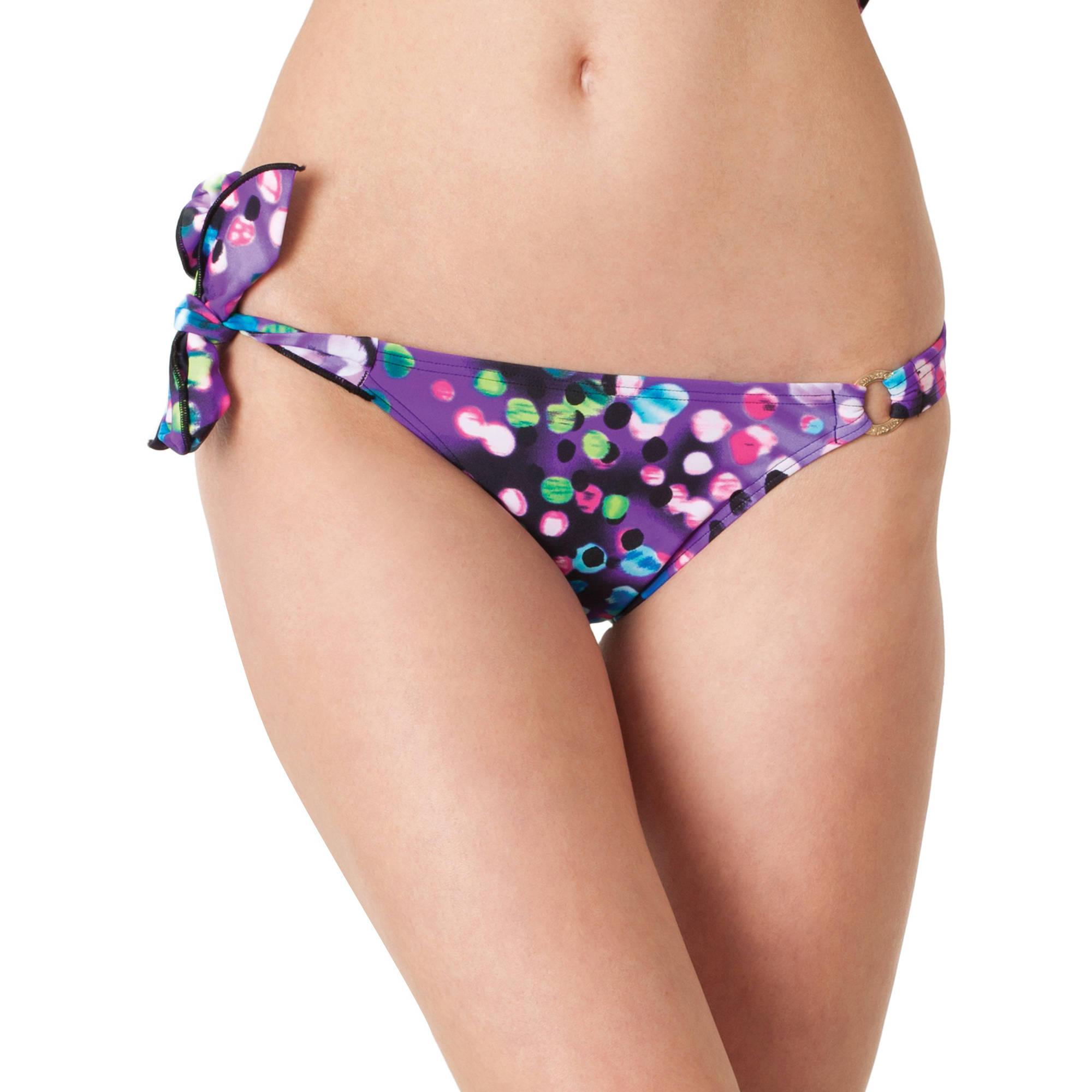 Smart & Sexy Women's Asymmetrical Side Tie Bikini Bottom