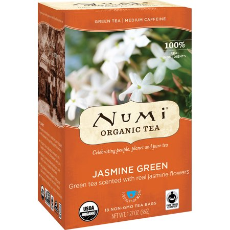 Numi Organic Tea, Jasmine Green, Tea Bags, 18 Ct German Organic Tea