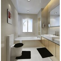 Black Bath Rugs Mats