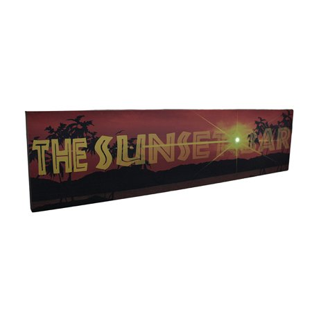 The Sunset Bar LED Lighted Canvas Wall Hanging - image 3 de 3