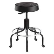"BEVCO ErgoLux Backless Pneumatic Stool 20"" to 25"", Black, S3200-Black seat"