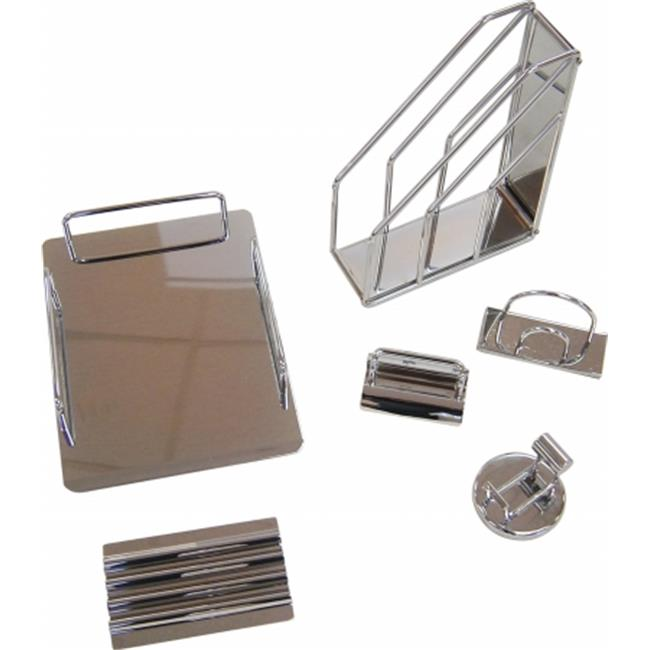 Organize it All 62100 Reflection 6 Piece Desktop Set in Chrome Finish
