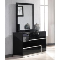 J&M Furniture Lucca 3 Drawer Dresser and Mirror