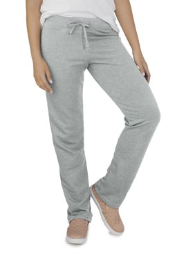 Fruit Of The Loom Women's Athleisure Essentials French Terry Open Bottom Pant