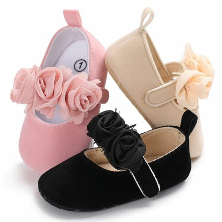 SUNSION Toddler Party Shoes Baby Girl Wedding Dress Shoes Bowknot Infant Prewalkers Shirley Bridal Shoes